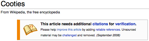 Wikipedia's Cooties Article