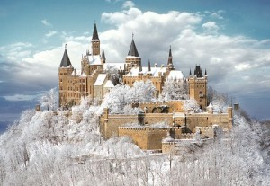 Snow Frosting, Castle Hohenzollern, Germany photo via nero749