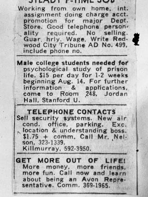 Stanford Prison Study Ad